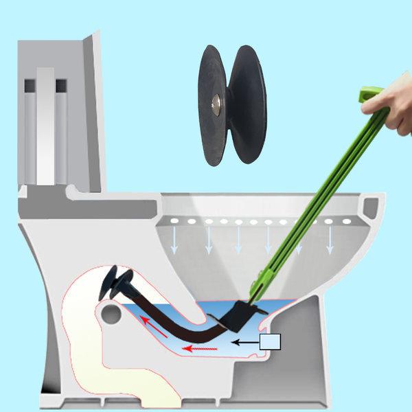 변기 뚫어뻥 뚫는기구 뚫기 막힘 화장실 피스톤압축기 상품이미지