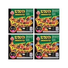 냉동 콤비네이션 피자 UNO 195g2입 X 4개