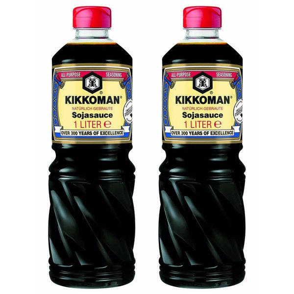 Kikkoman Soy Sauce 키코만 간장 소스1000ml 2팩 상품이미지