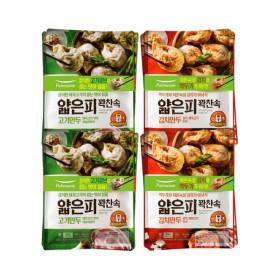 풀무원 얇은피꽉찬속 고기만두 4봉+김치만두 4봉