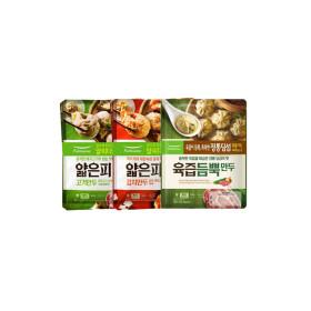 풀무원 얇은피만두 고기/김치 각2봉+육즙만두 2봉