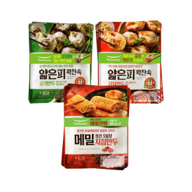 풀무원 얇은피만두 고기/김치 각2봉+메밀지짐만두 2봉