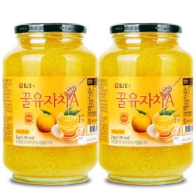 꿀유자차A 2kg+전용포장: 새콤달콤 유자차~