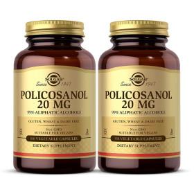 2개 Solgar 폴리코사놀 20 mg 100 베지 캡슐