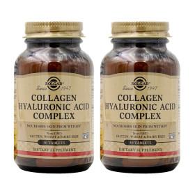 2개 Solgar 히알루론산 120 mg 비타민 C 함유 30 타블렛