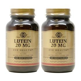 2개 Solgar 루테인 20 mg 지아잔틴 60 소프트젤 빠른직구
