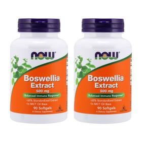 2개 Now Foods 보스웰리아 추출물 500 mg 90 소프트젤