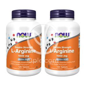 2개 Now Foods 엘 아르기닌 L Arginine 1000 mg 120 타블렛