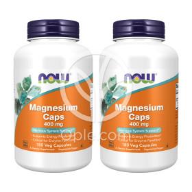 2개 Now Foods 마그네슘 캡스 400 mg 180 베지 캡슐