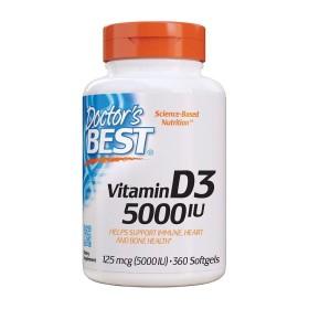 Doctors BEST 비타민 D3 5000 IU 비타민디 360 소프트젤 빠른직구