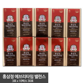 홍삼정 에브리타임 밸런스 10mlx30포(3포x10박스)(소포장)