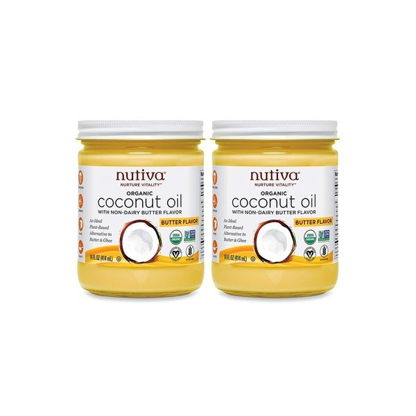 누티바 Organic Coconut Oil Butter Flavor 414ml 2통 상품이미지