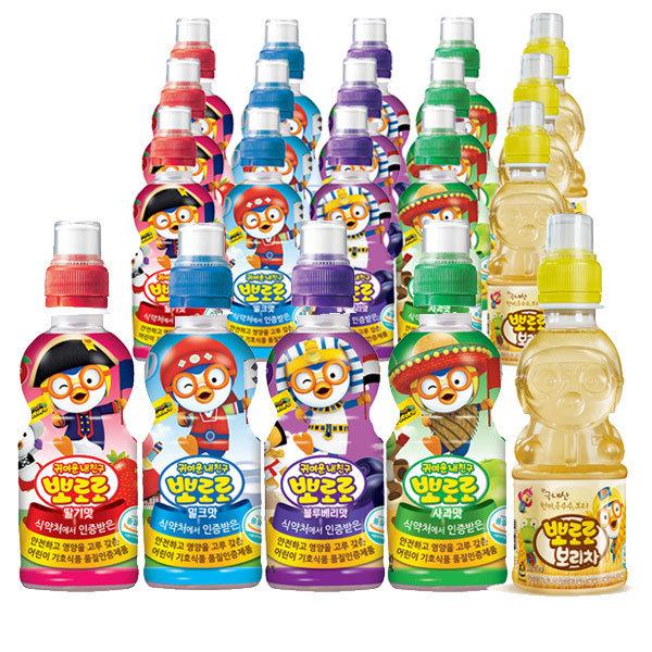 뽀로로5종 235ml각4입(총20병)/어린이음료/음료 상품이미지