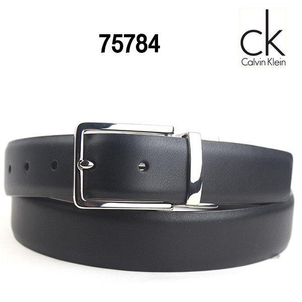 CK 캘빈클라인 양면벨트 75784 블랙 코냑/남성벨트 상품이미지
