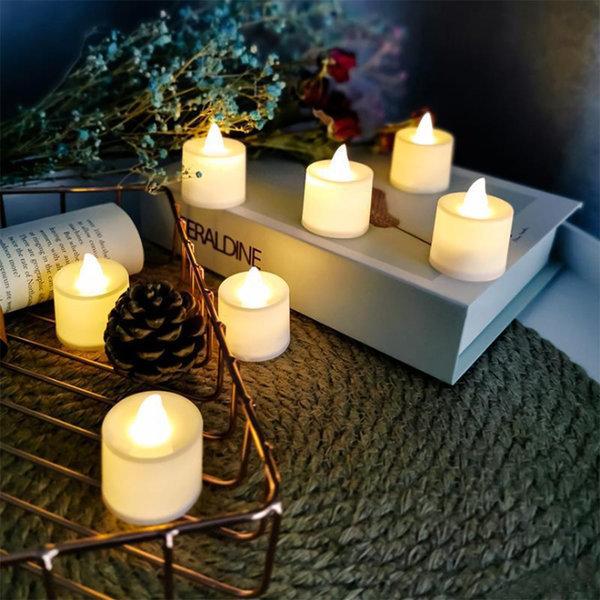 LED촛불 티라이트 캔들 옐로우 24p 흔들리는 효과 상품이미지