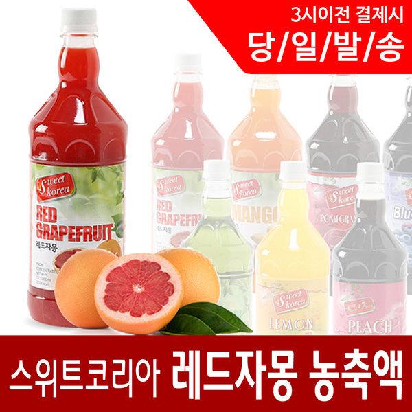 레드자몽 1000ml/스위트코리아/아이스티/에이드원액 상품이미지