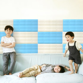 [aguard] Wall cushion collection / water resistant / fence design / soft / solid color /