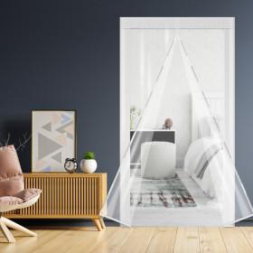 방풍비닐 현관문100x210/창문바람막이 자석커튼문풍지