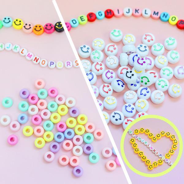DIY 비즈 공예 만들기 재료 키링 팔찌 이니셜 알파벳 상품이미지