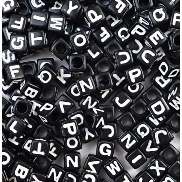 비즈 공예 사각모던알파벳 만들기 재료 키링 팔찌 상품이미지