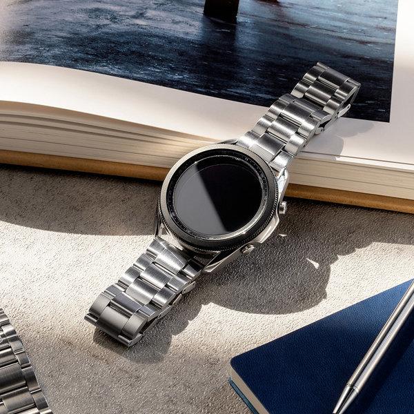 갤럭시워치 3  링케 메탈원 시계줄 스트랩 밴드 실버 상품이미지