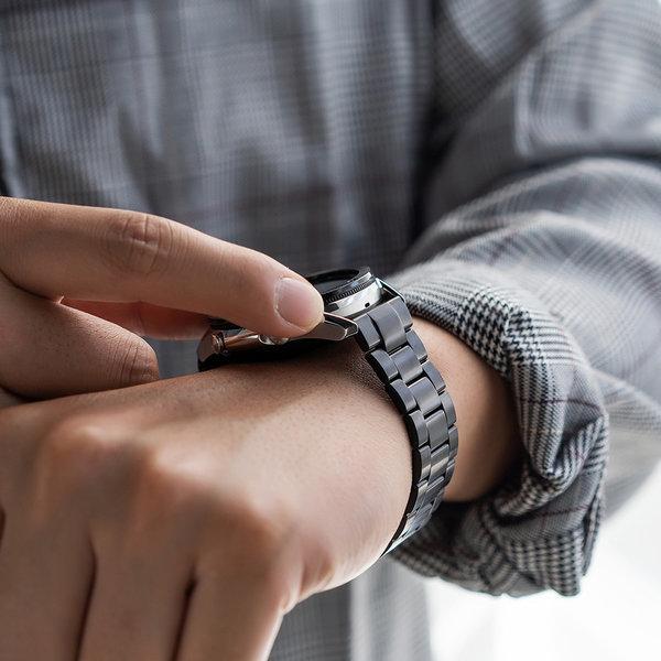 갤럭시워치 3  링케 메탈원 시계줄 스트랩 밴드 블랙 상품이미지