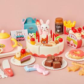 노래부르고 불면꺼지는 DIY 멜로디 생일케이크 (핑크)