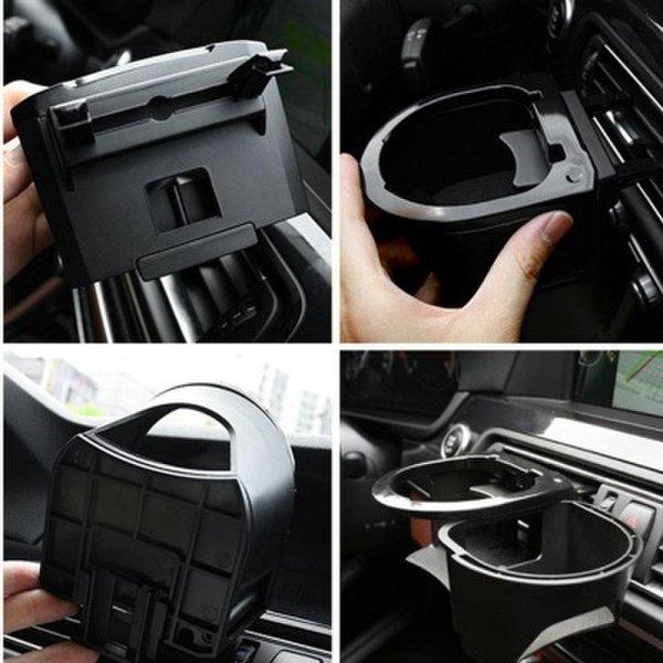 (핫트랙스) 차량용 컵 홀더 송풍구 자동차 더블 컵 거치대 트레이 상품이미지