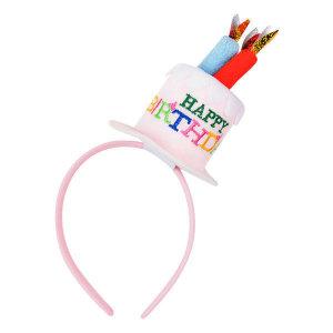 생일케익 머리띠 핑크 파티 생일 데코 기념일 용품 상품이미지