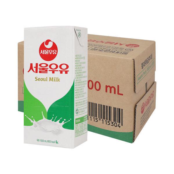 멸균우유 1000ml x 10입 (1박스) 무료배송 상품이미지