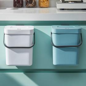 가정용 슬림 음식물 쓰레기통 3L 1+1