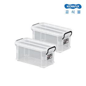코멕스 네오박스 5L 2개세트 수납정리함 리빙박스
