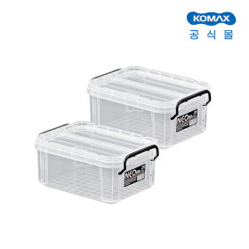 코멕스 네오박스 6L 2개세트 수납정리함 리빙박스