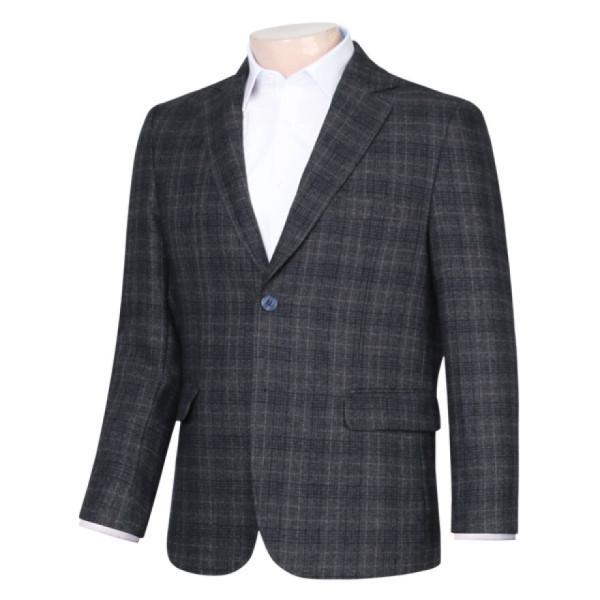 남성 정장 국산 셔츠 울 콤비 체크 자켓 SM-COA-74128-4-차콜/ 파파브로 상품이미지