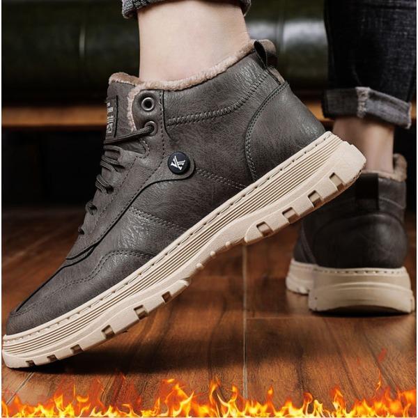 남성 캐쥬얼 가죽 스니커즈 겨울 방한화 신발 NW5 상품이미지