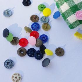 일제 썬그립티단추 플라스틱 똑딱이단추 11mm-40세트