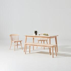 도노 세라믹 스칸디 4인 식탁세트 (의자2벤치1)