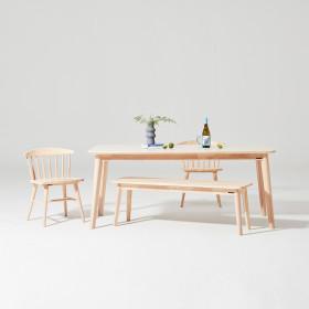 도노 세라믹 스칸디 6인 식탁세트 (의자2벤치1)