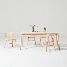 도노 세라믹 스칸디 6인 식탁세트 (의자4)