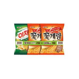 꽃게랑10봉 + 야채타임5봉 /스낵/과자