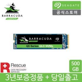 바라쿠다 Q5 M.2 NVMe SSD 500GB +데이터복구+3년보증+