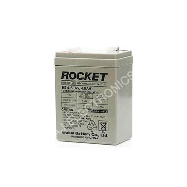 로케트 연(납)축전지 ES4-6 (6V 4Ah) 대형소형완구 상품이미지