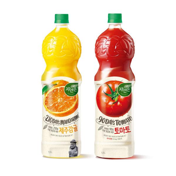 자연은 과일주스 제주감귤 1.5L + 토마토 세트 1.5L 상품이미지