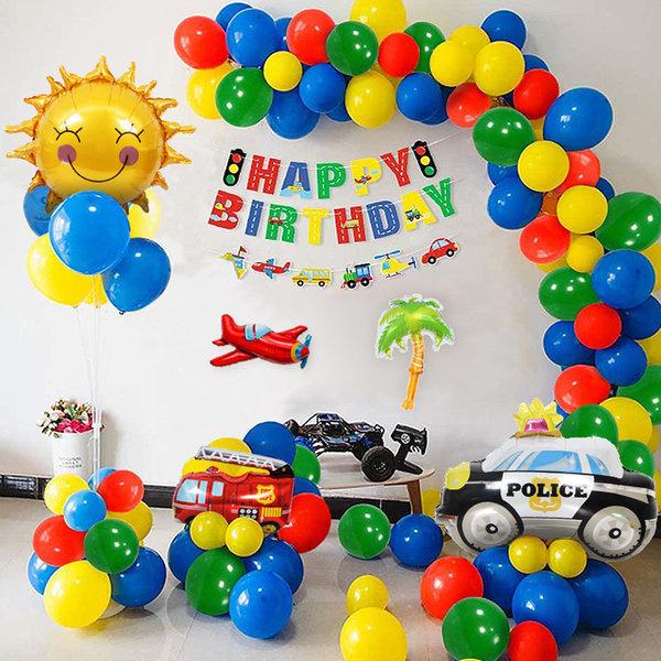 자동차 대형 구급차 풍선세트 생일장식 파티풍선 상품이미지