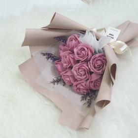 기념일 생일 졸업식 여자친구선물 10송이 비누꽃다발