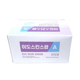이도스킨스왑A 낱개포장 100매/알콜솜낱개포장100PCS
