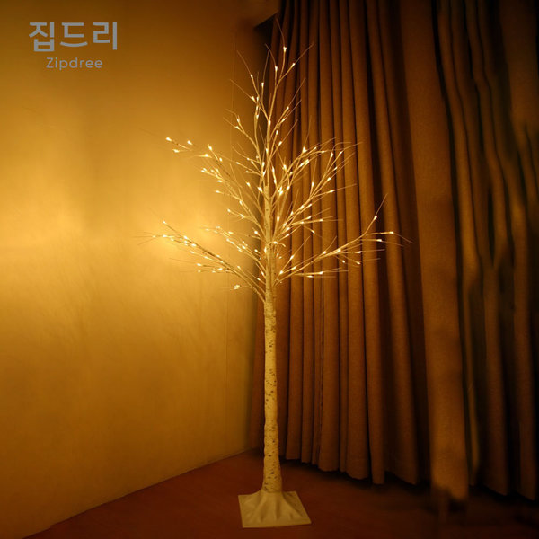 집드리 LED 크리스마스 대형 자작나무트리 세트 1.7m 상품이미지