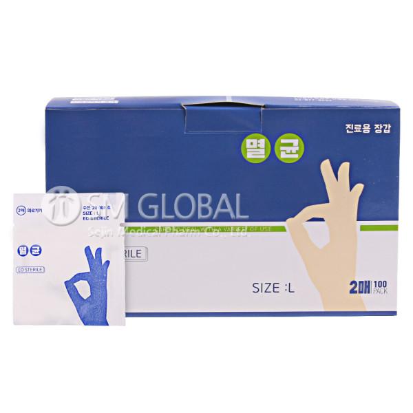 멸균 1회용 진료용장갑(폴리글러브)-200매입 멸균 1회 상품이미지