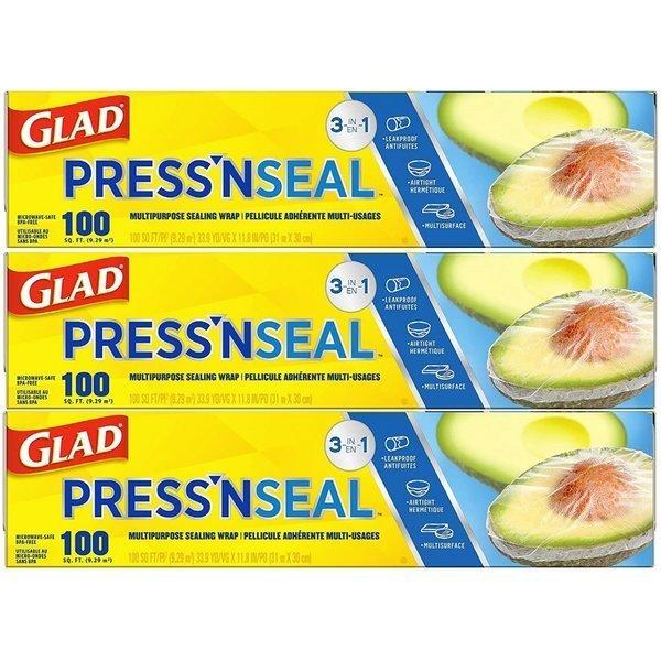 Glad 글래드 프레스 앤 씰 매직랩 31m x 30cm 3팩 상품이미지