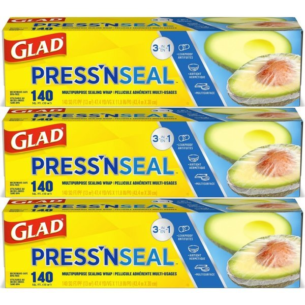 Glad 글래드 프레스 앤 씰 매직랩 43.4m x 30cm 3팩 상품이미지
